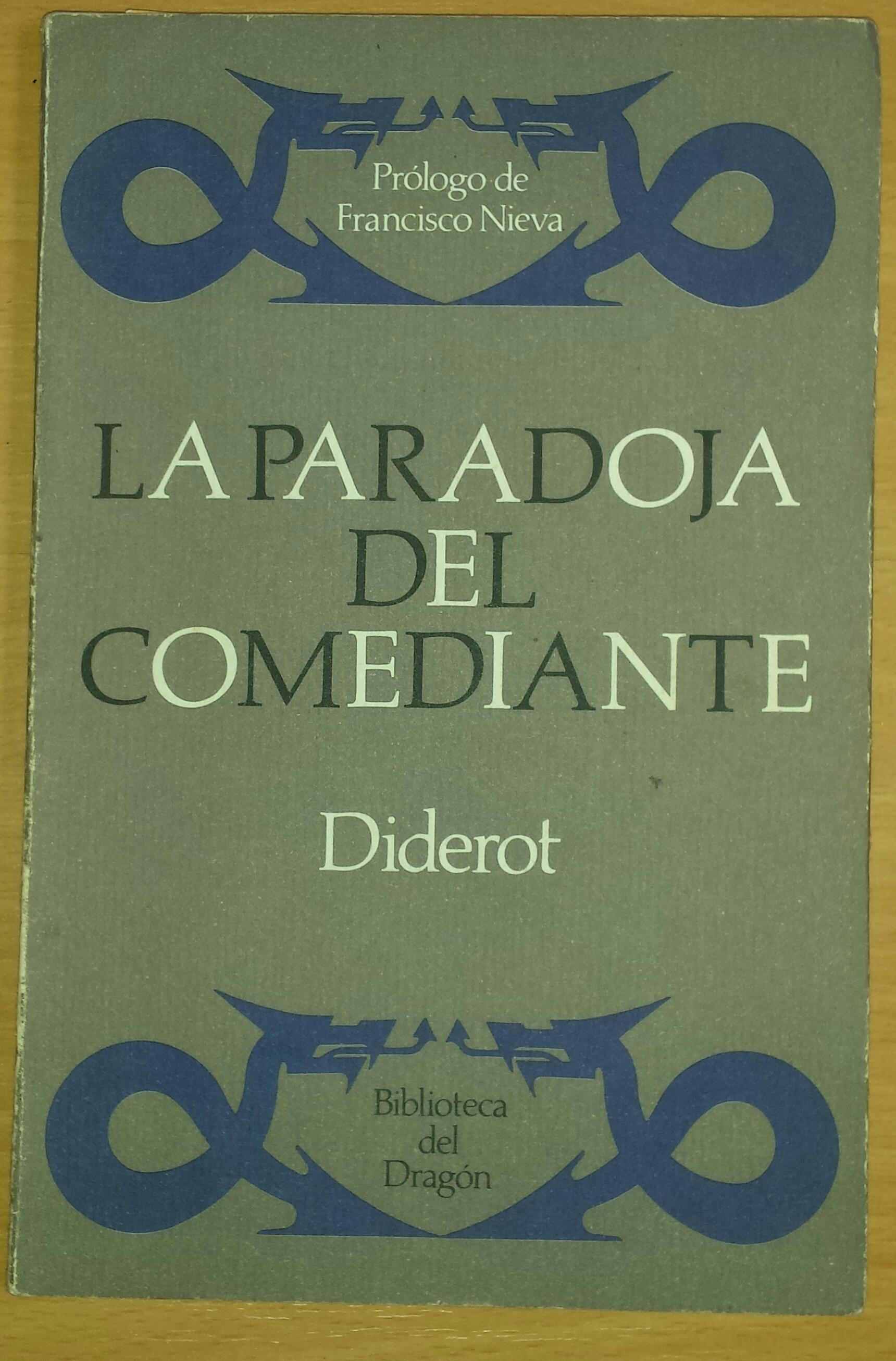 La paradoja del comediante  by  Denis Diderot