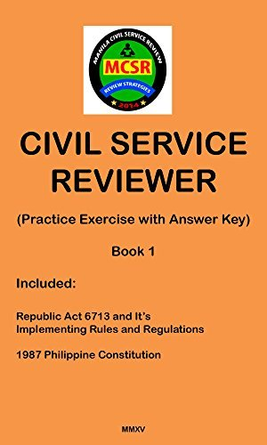 Civil Service Reviewer: (Practice Exercise with Answer Key) (Manila Civil Service Reviewer Book 1) Dandy Victa