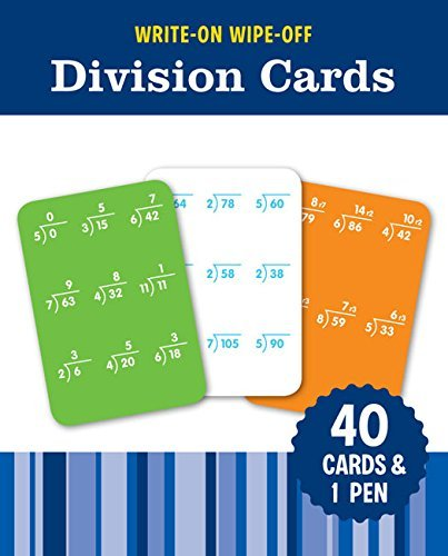 Write-On Wipe-Off Division Cards Flash Kids Editors