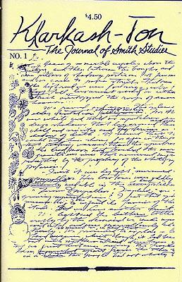 Klarkash-ton:  the journal of smith studies Clark Ashton Smith
