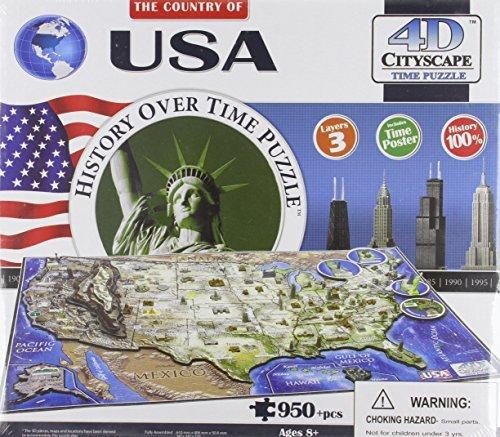 4d Cityscape USA History Time: 950 Pieces 4d Cityscape Inc