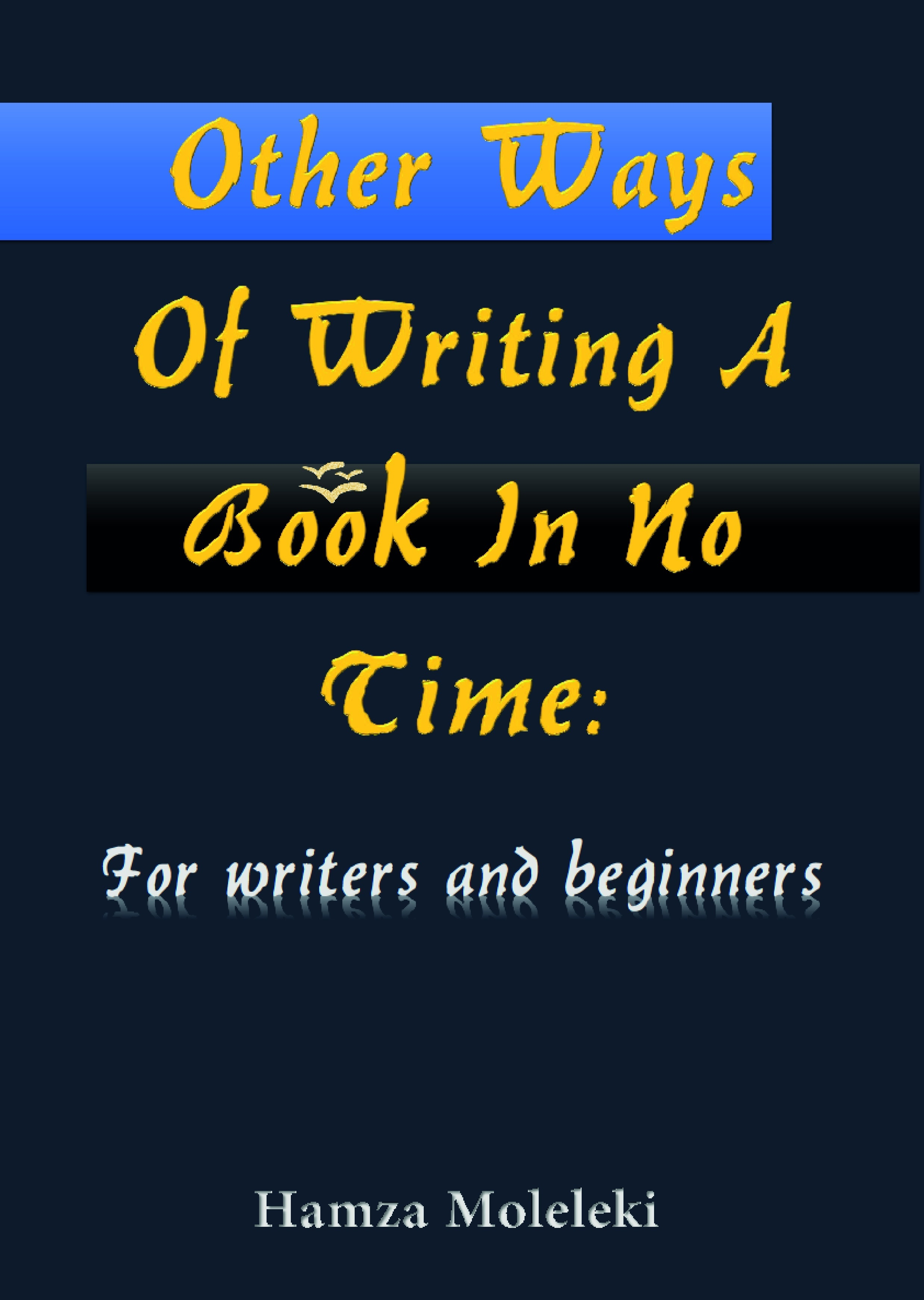 Other Ways of Writing a Book in No Time: For writers and beginners Hamza Moleleki