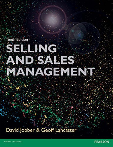 Selling and Sales Management 10th edn (Foundation Studies in Law Series)  by  David Jobber