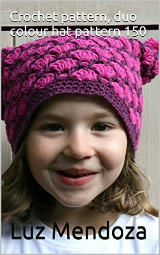 Crochet pattern, duo colour hat pattern 150  by  Luz Mendoza