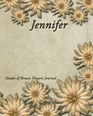 Shades of Brown Flowers Journal - Jennifer Kooky Journal Lovers