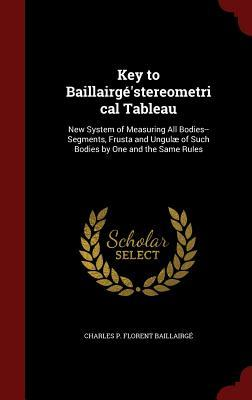 Key to Baillairgestereometrical Tableau: New System of Measuring All Bodies--Segments, Frusta and Ungulae of Such Bodies One and the Same Rules by Charles P Florent Baillairge