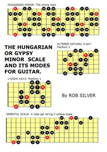 THE HUNGARIAN OR GYPSY MINOR SCALE AND ITS MODES FOR GUITAR. (Basic Scale Guides for Guitar. Book 5)  by  Rob Silver