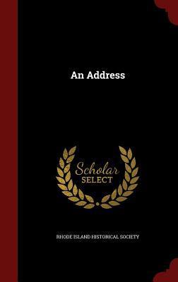 An Address Rhode Island Historical Society
