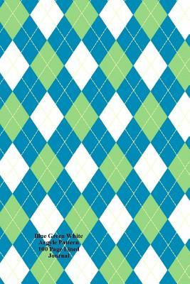 Blue Green White Argyle Pattern 100 Page Lined Journal: Blank 100 Page Lined Journal for Your Thoughts, Ideas, and Inspiration  by  Jmm Shepperd