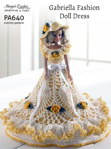 Crochet Pattern Gabriella Fashion Doll Dress PA640-R  by  Maggie Weldon