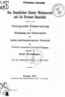 Das Benediktinerkloster Munchaurach Und Die Hirsauer Bauschule Ernst Derendinger