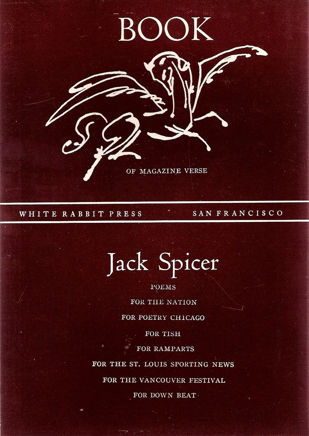 Book of Magazine Verse  by  Jack Spicer