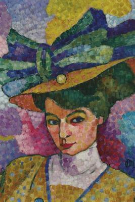 Woman with a Hat (Jean Metzinger): Blank 150 Page Lined Journal for Your Thoughts, Ideas, and Inspiration  by  Unique Journal
