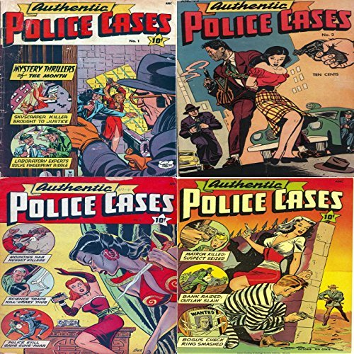 Authentic Police Cases. Issues 1, 2, 4 and 5. Features Skycraper killer, Fingerprint riddle, Nugget killers, kill crazy thug, gang guns, suspect seized, outlaw slain and more. Digital Comic Combo  by  Digital Sky Comic Compilations