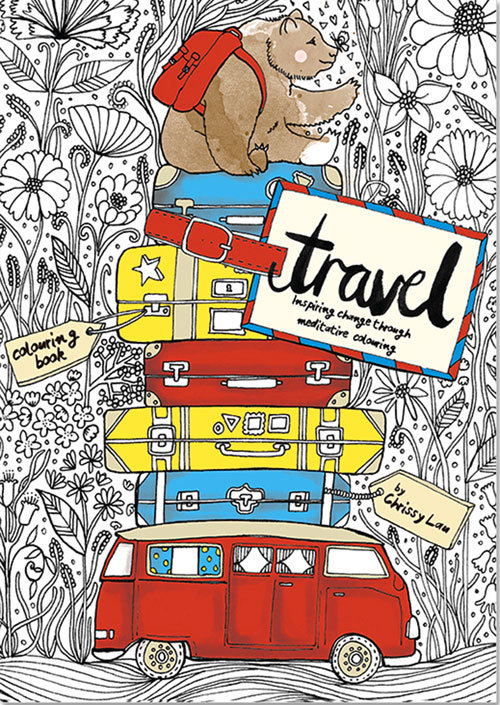 The Travel Coloring Book: Inspiring Change Through Meditative Coloring  by  Chrissy Lau