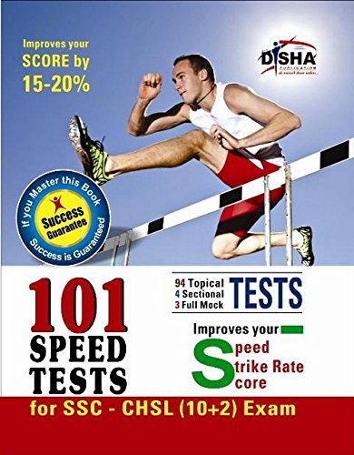SSC 10+2 Combined Higher Secondary Level (CHSL) 101 Speed Tests with Success Guarantee Disha Experts