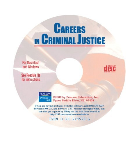 Careers in Criminal Justice CD-ROM  by  Pearson Education