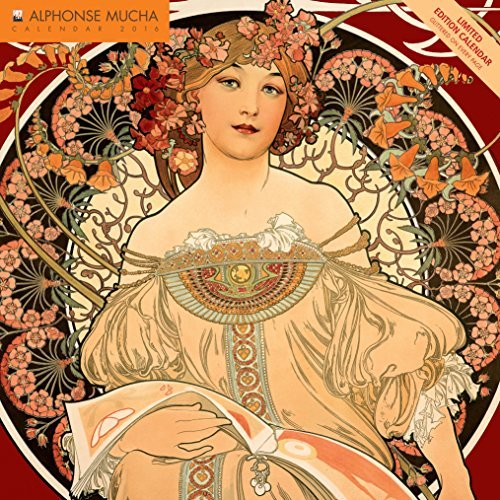 Alphonse Mucha limited edition wall calendar 2016  by  Flame Tree Publishing