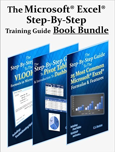 The Microsoft Excel Step-By-Step Training Guide Book Bundle (The Microsoft Excel Step-By-Step Training Guide Series 4)  by  C J Benton