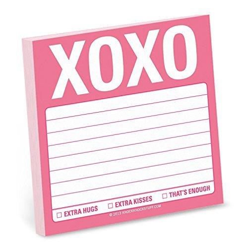 Knock Knock Sticky Note Pad, XOXO Knock Knock