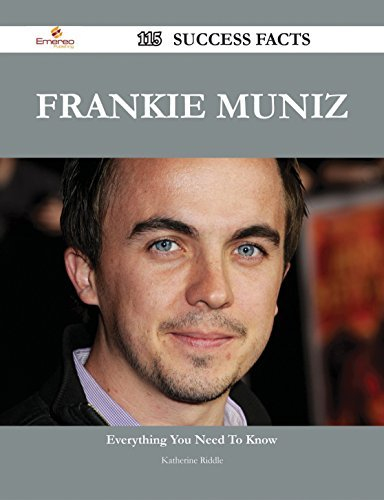 Frankie Muniz 115 Success Facts - Everything you need to know about Frankie Muniz Katherine Riddle