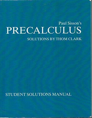 Precalculus  by  Paul Sisson