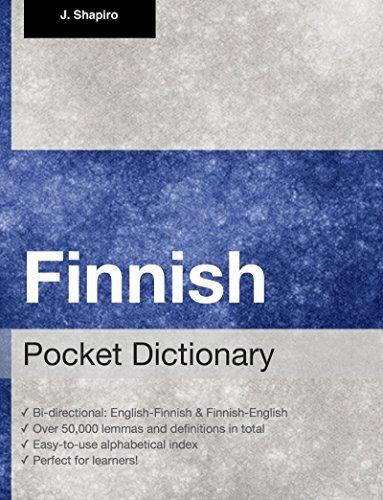 Finnish Pocket Dictionary John Shapiro