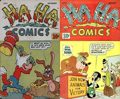 HA HA Comics. Issues 3 and 4. Golden Age Comedy Digital Comics. Golden age Comedy Comics