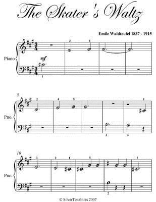 Skaters Waltz Beginner Piano Sheet Music  by  Emile Waldteufel