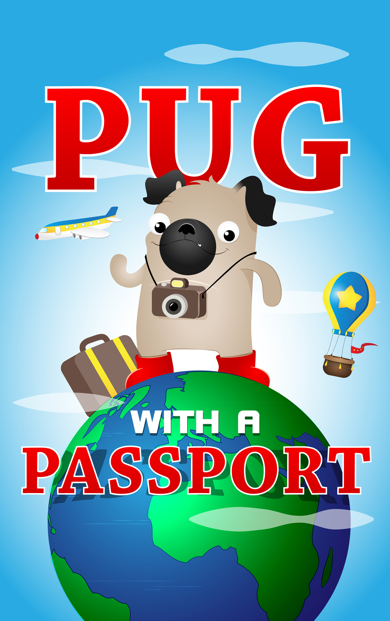 Pug with a Passport  by  Marie Story