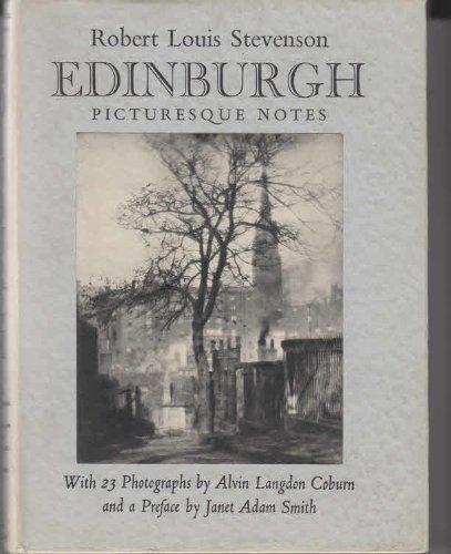Edinburgh. Picturesque Notes. 1954. Cloth with dustjacket. Robert Louis Stevenson