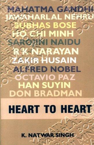 Heart to Heart K. Natwar Singh