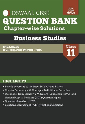 Oswaal CBSE Question Bank With Chapter wise Solutions for Class 11 Business Studies Oswaal Publication