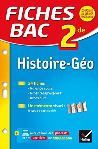Fiches bac Histoire-Géographie 2de : fiches de révision - Seconde  by  Françoise Navet-Bouron
