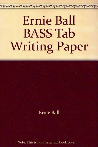 Ernie Ball BASS Tab Writing Paper  by  Ernie Ball