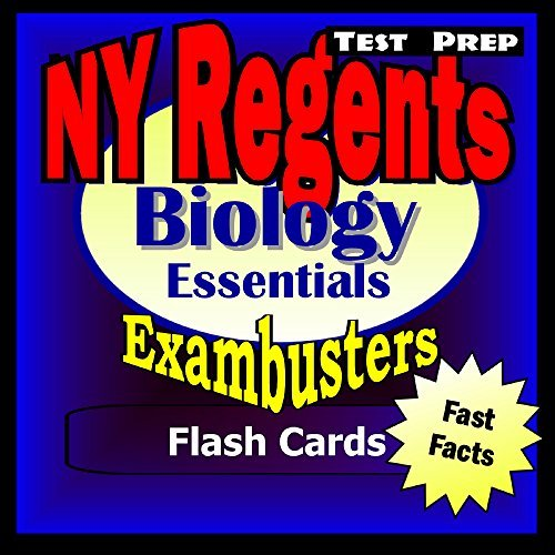 NY Regents Biology-Living Environment Test Prep Review--Exambusters Flashcards: New York Regents Exam Study Guide (Exambusters Regents Book 2) Regents Exambusters