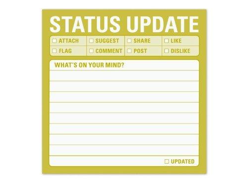 Knock Knock 12430 Sticky Notes, Status Update Knock Knock