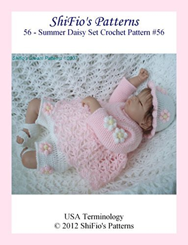 Crochret Pattern - CP56 - Baby top, pants, hat and sandals - o-3mths - USA Terminology  by  ShiFios Patterns