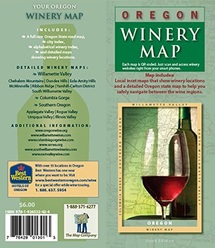 Oregon Winery Map  by  Various