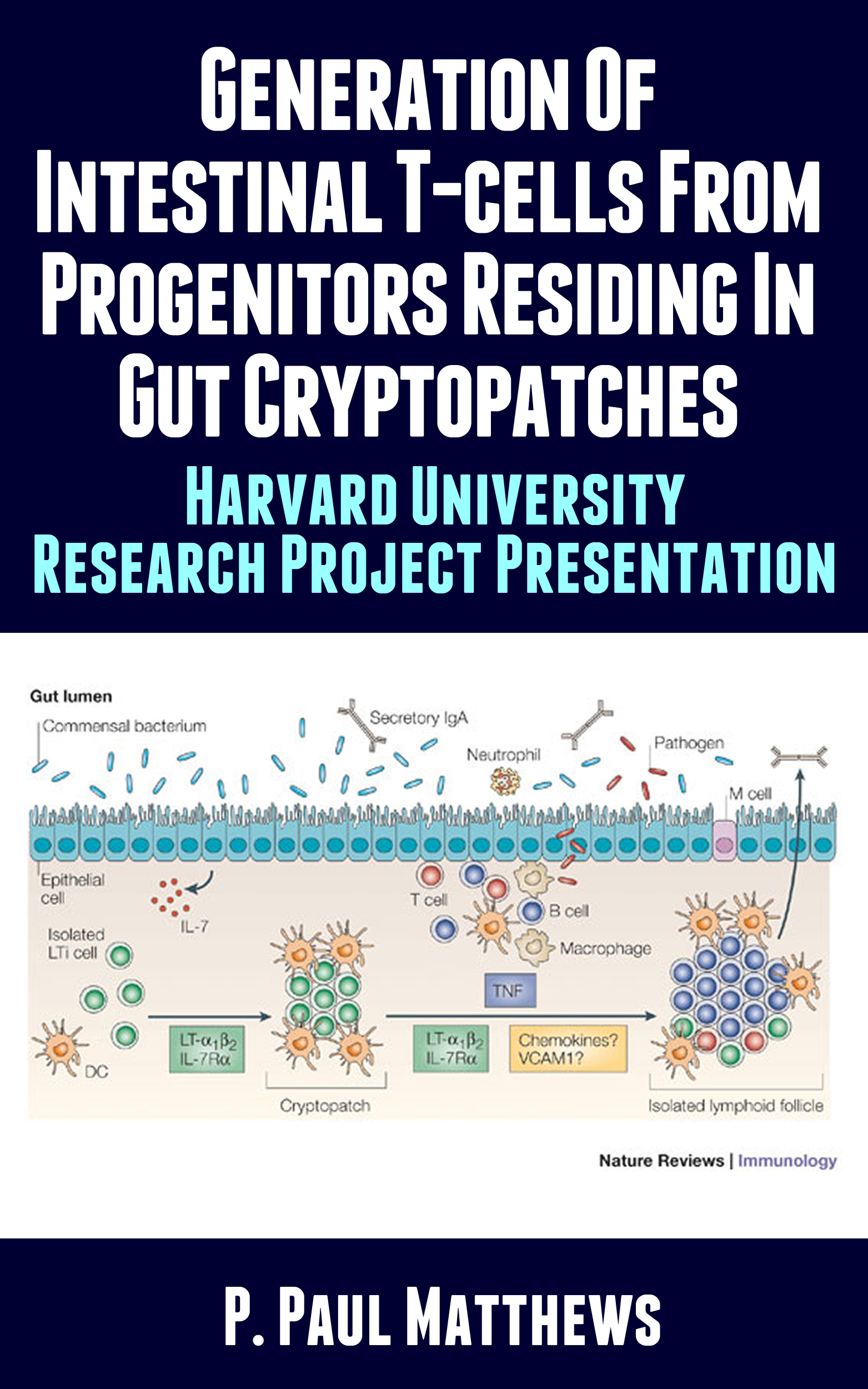 Generation of Intestinal T-Cells from Progenitors Residing in Gut Cryptopatches  by  P. Paul Matthews