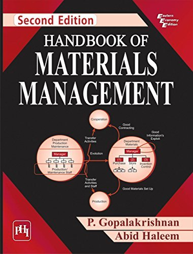 HANDBOOK OF MATERIALS MANAGEMENT  by  P. Gopalakrishnan