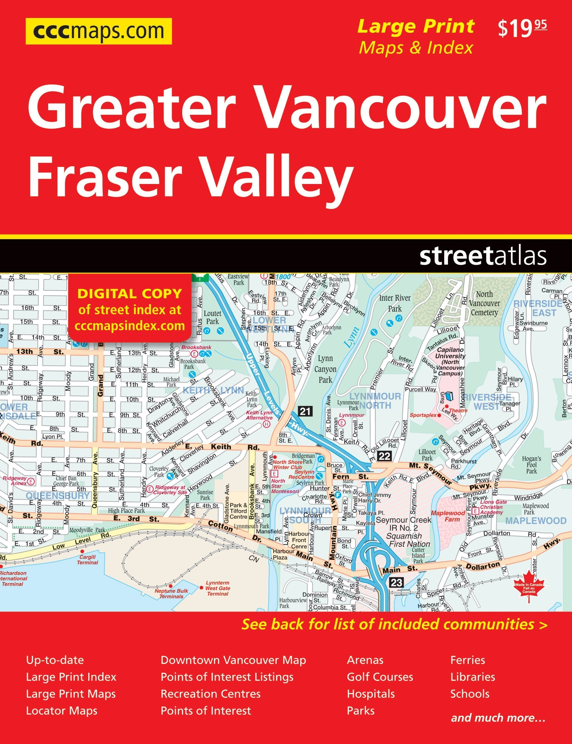 Greater Vancouver Fraser Valley Canadian Cartographic Corp