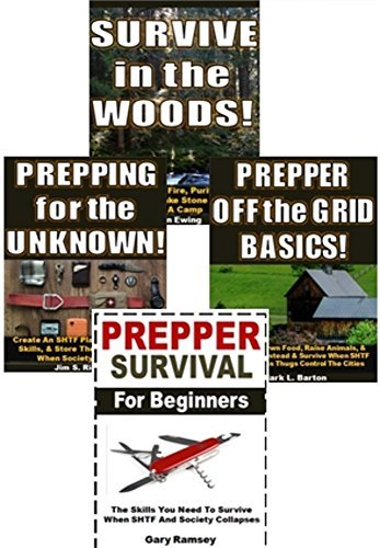Survival Disaster 4-Box Set: Survive in the Wood!, Prepping for the Unknown!, Prepper Off the Grid Basics!, Prepper Survival for Beginners  by  Aaron Ewing