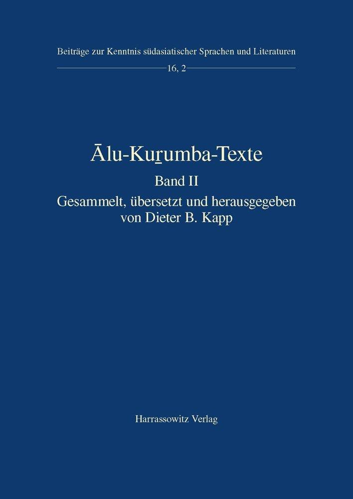 Alu-Kurumba-Texte: Band II Dieter B. Kapp