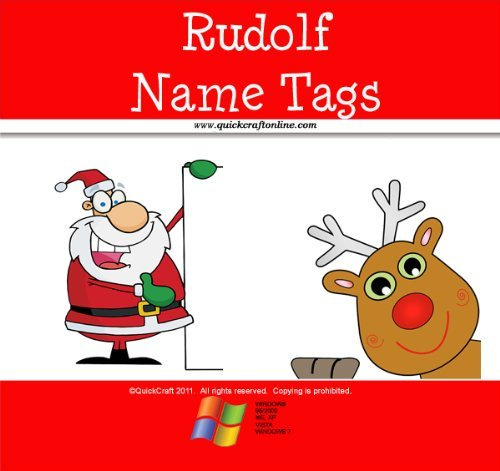 Christmas Craft Rudolf Name Tags  by  QuickCraft