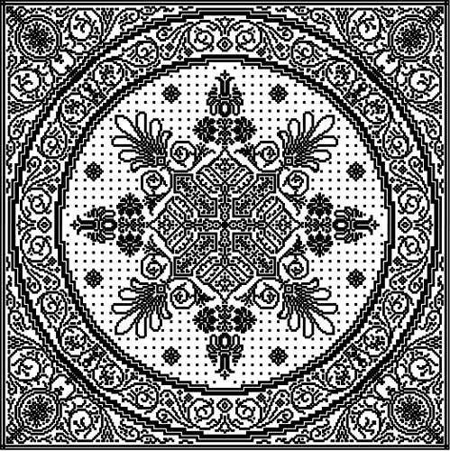 MASSIVE Baroque Table Topper: French-Inspired Filigree in Filet Crochet  by  Athena Works