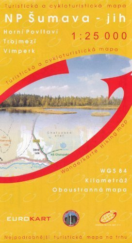 Bohemian Forest (Sumava) South 1:25,000 Hiking Map (Upper Moldau, Tripoint, Vimperk) GOL