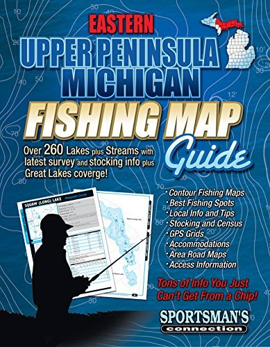 Eastern Upper Peninsula Michigan Fishing Map Guide Sportsmans Connection