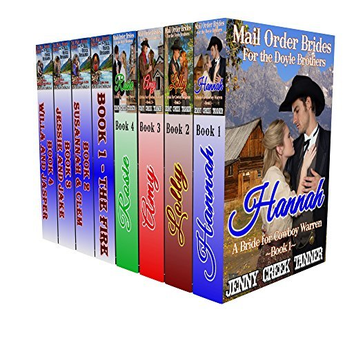 A Mail Order Brides Clean Western Romance 8-Book Boxed Set: The Mail Order Brides for the Doyle Brothers 4-Book Series Jenny Creek Tanner AND The Mail Order Brides and the Mail Order Husbands 4 by Jenny Creek Tanner