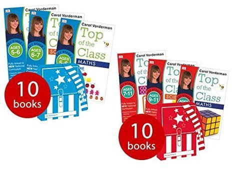 Carol Vorderman Top of the Class KS1 and KS2 Collection 20 Books Set (Science, English, Spelling, Maths Beginner and Maths Advanced Ages 5 - 7 and Maths, French, Science and English Ages 7 - 11)  by  Carol Vorderman